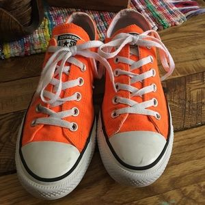 Neon Orange Converse